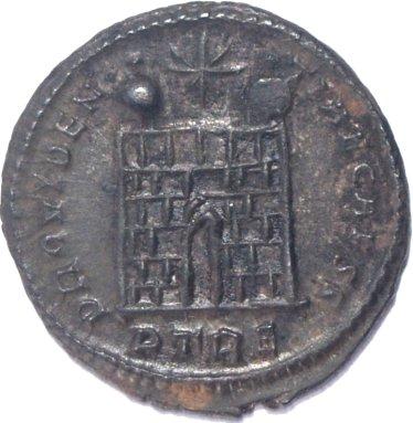 AE3 de Constantino II. PROVIDENTIAE CAESS. Trier  665a10