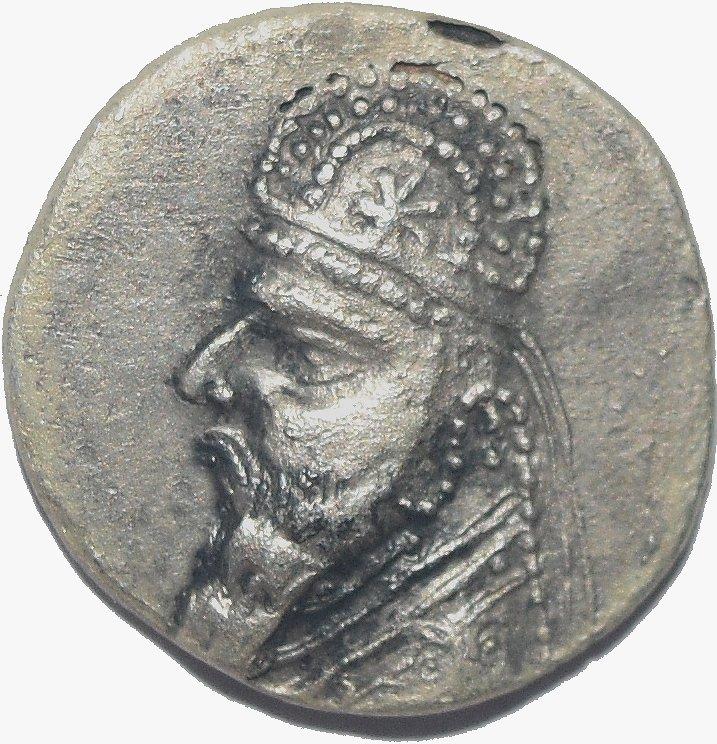 Dracma de plata. Rey Mitridates II de Partia, 123-88 a.C. 68211