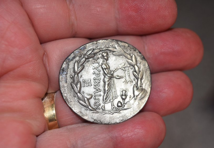 Tetradracma de plata. AEOLIS, Myrina. Ca. 160-143 a.C.  683f11