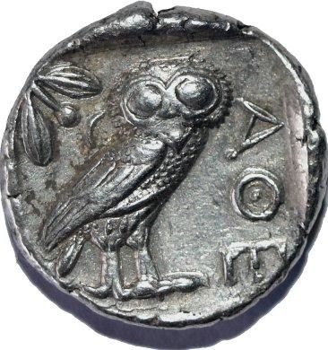 Tetradracma attica, Atenas. 454-404 a.C. 698b10