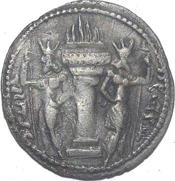 Dracma de plata. Reyes Sasanidas. Sapor I. 240-272 d.C. 711a10