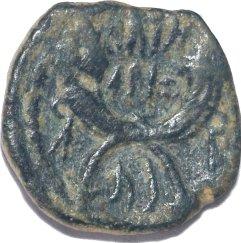 AE 17 de Aretas IV y la reina Shagilath. Reino Nabateo. Petra ca. 9 a.C.-40 d.C.  725a10