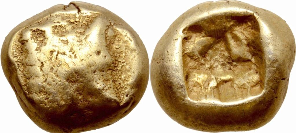 1/12 de estatera de electro. Jonia (Ionia). Ceca incierta. Ca. 600-550 a.C. 72810