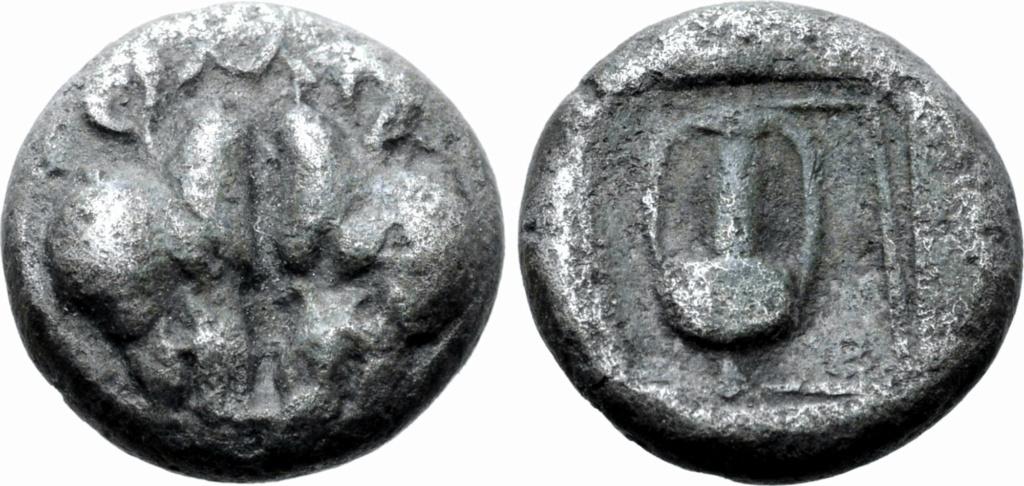 1/12 de estátera de plata? o vellón, Lesbos, ceca incierta. Ca 500-450 a.C.  72910