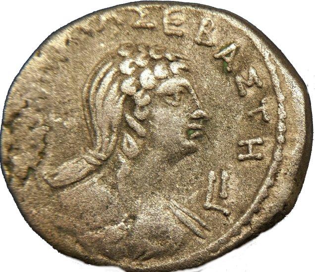 Tetradracma de Nerón con Popea. Egipto, Alejandría. 63-64 d.C. 733a10