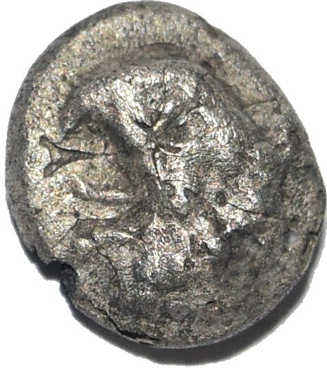 Ionia, Focea. Trihemiobolo de plata. 780a10