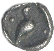 Tetartemorion de plata. Caria, Mylasa. Ca 420-390 a.C.  783a10