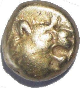 Hemihekte acuñado en tiempos de los Reyes de Lidia Aliates y Creso (610-546 a.C.) 79210