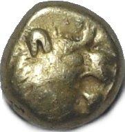 Hemihekte acuñado en tiempos de los Reyes de Lidia Aliates y Creso (610-546 a.C.) 792b10