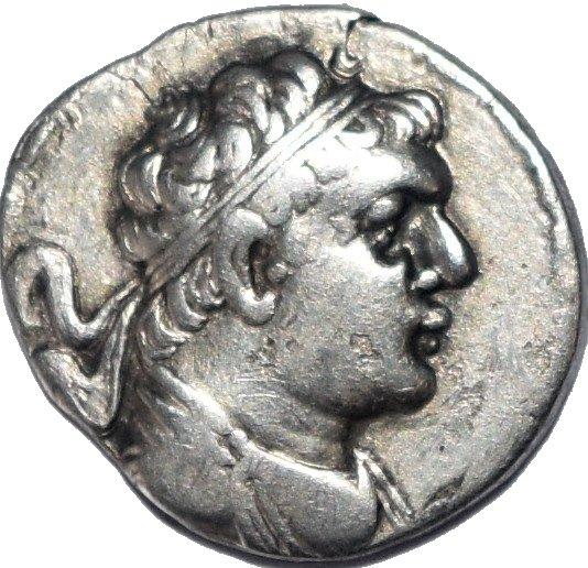Dracma de plata. Reino Greco-Bactriano. Rey Heliocles I Dikaios. 145-130 a.C.  794c10