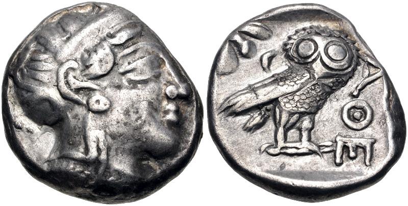 Tetradracma imitando los atenienses. Egipto. Faraón desconocido (ca. siglos V-IV a.C.) Atenae10