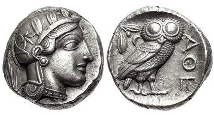 Tetradracma imitando los atenienses. Egipto. Faraón desconocido (ca. siglos V-IV a.C.) Atenas10