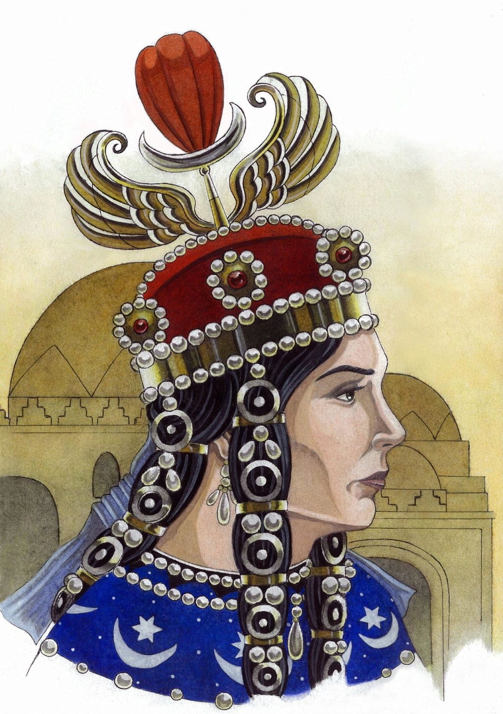 Dracma de plata. Reina Boran, Imperio Sasanida. 628 o 631d.C. Dedit Maestro Benyusuf Boran10