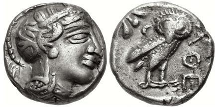 Tetradracma imitando los atenienses. Egipto. Faraón desconocido (ca. siglos V-IV a.C.) Egipto10