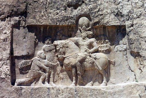 Dracma de plata. Reyes Sasanidas. Sapor I. 240-272 d.C. Naqsh_10