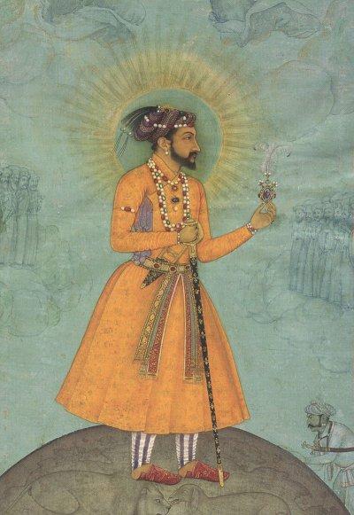 Rupia de plata. Emperador Mogol Shah Jahan. India. Sha10
