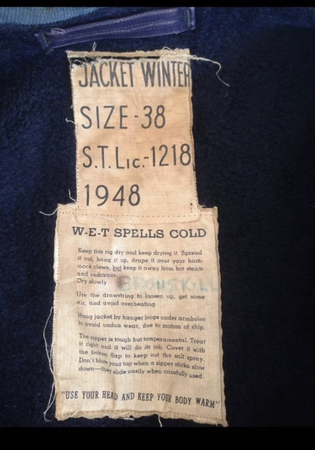 40's-60's WW2 Korea RCN Royal Canadian Navy Deck Jacket Parka Img_7014