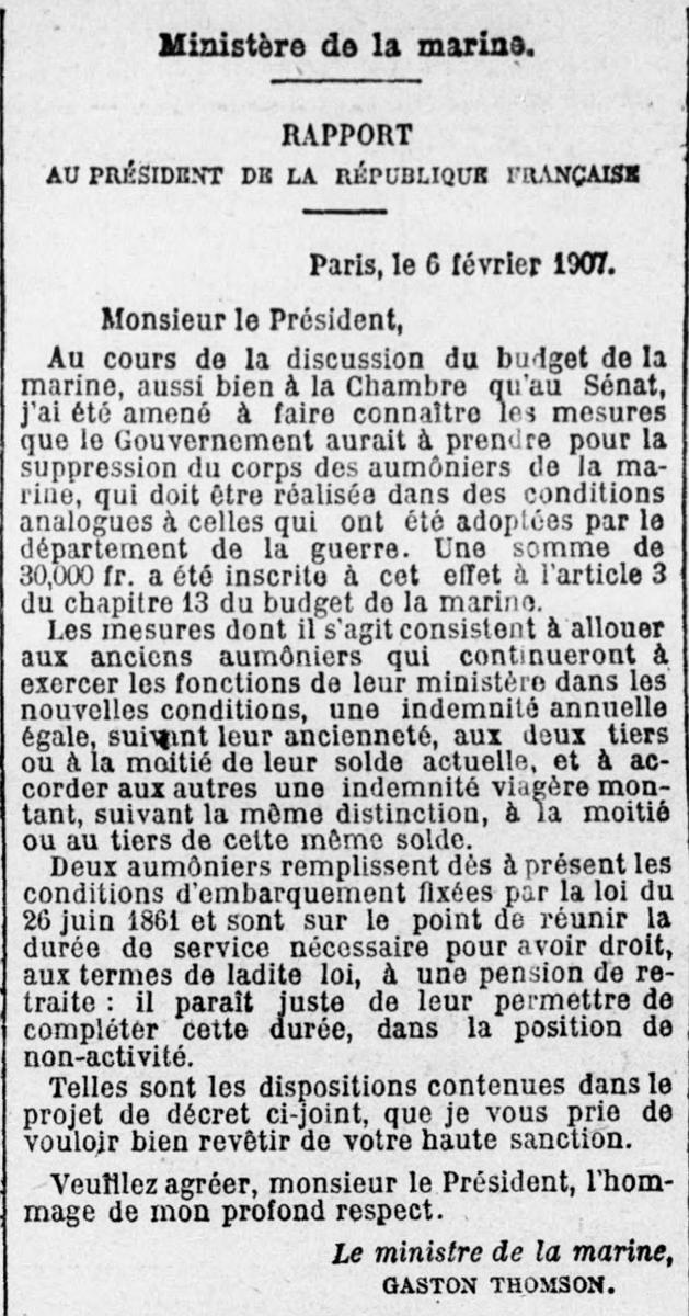 [ Histoire et histoires ] La Royale à travers la presse ancienne - Page 3 Decret10