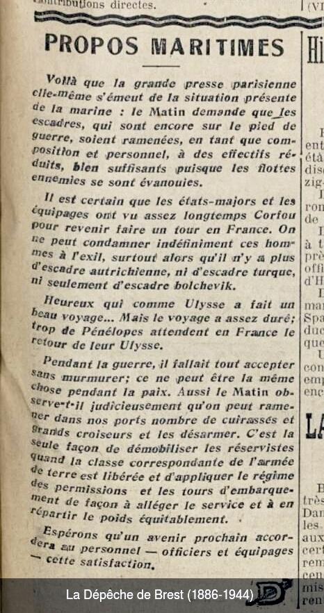 [ Histoire et histoires ] La Royale à travers la presse ancienne Depech10