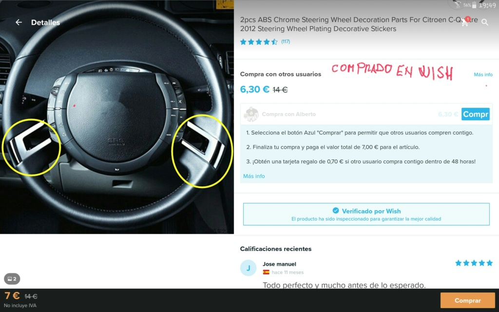 Metalizado del volante Screen12