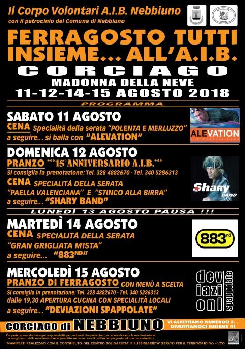 FESTA DI FERRAGOSTO CON L'AIB 2018 Locand11