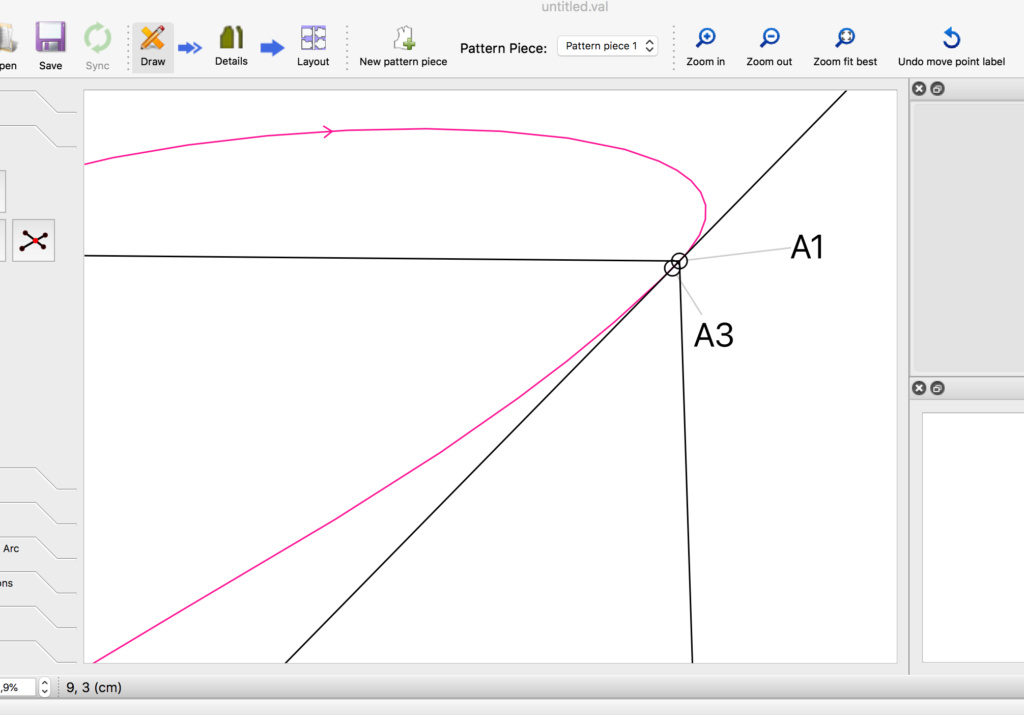 segmentation of the curved path Screen10
