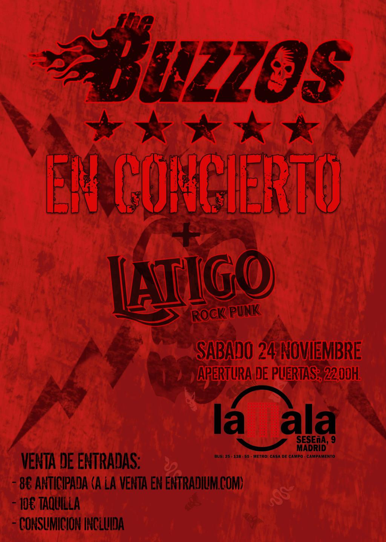 THE BUZZOS en MADRID-SABADO 24 NOVIEMBRE Cartel10