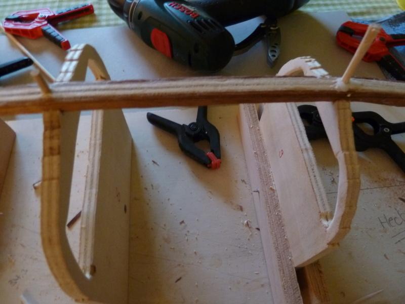 Skuldelev III Holz Standmodel in 1 : 25  Bau als RC Wikingerschiff P1020512