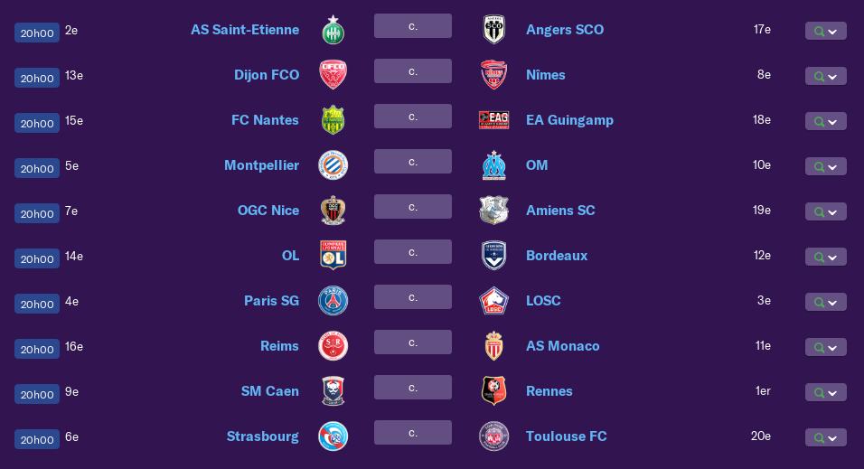Calendrier Ligue 1 saison 01 0171