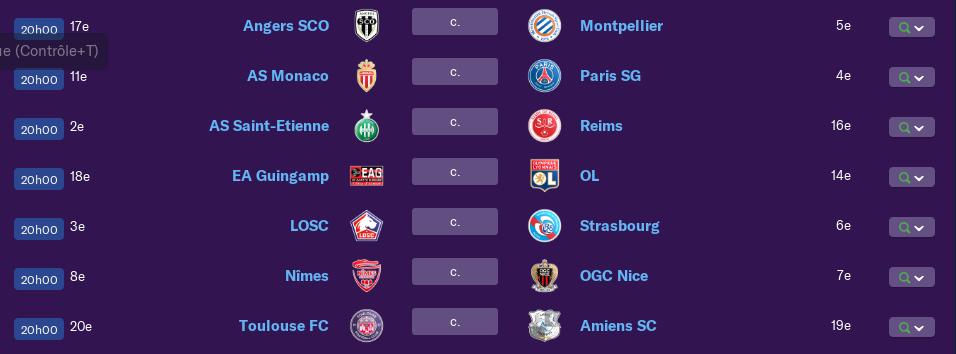 Calendrier Ligue 1 saison 01 0172