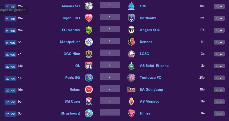 Calendrier Ligue 1 saison 01 0173