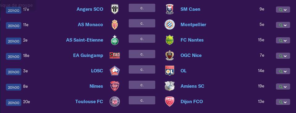 Calendrier Ligue 1 saison 01 0174