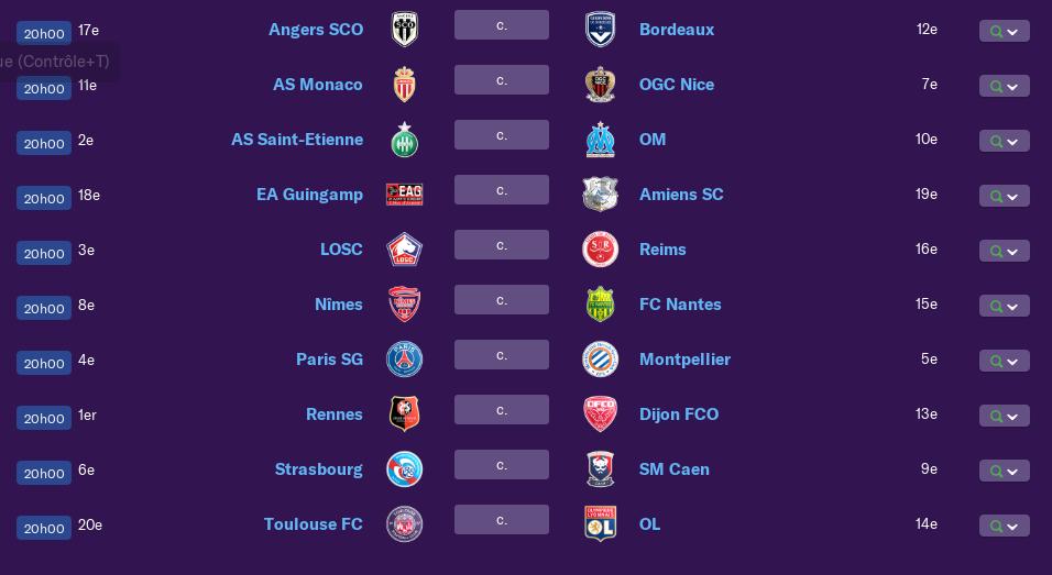 Calendrier Ligue 1 saison 01 0175