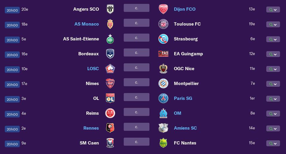 Calendrier Ligue 1 saison 01 0294