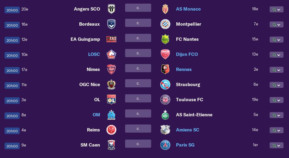 Calendrier Ligue 1 saison 01 0297
