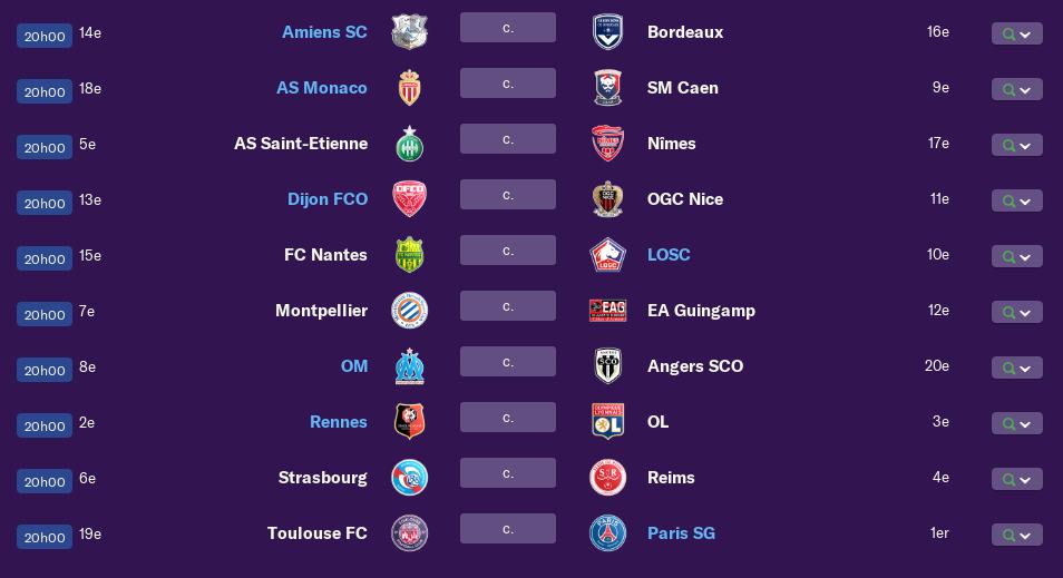 Calendrier Ligue 1 saison 01 0298
