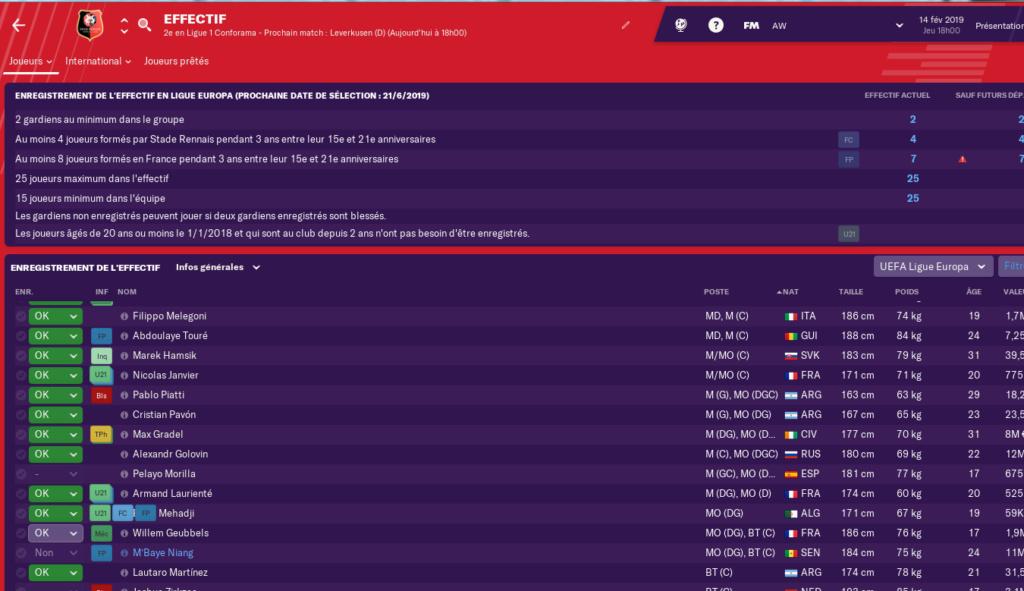 Enregistrement Effectif Europa League 0373