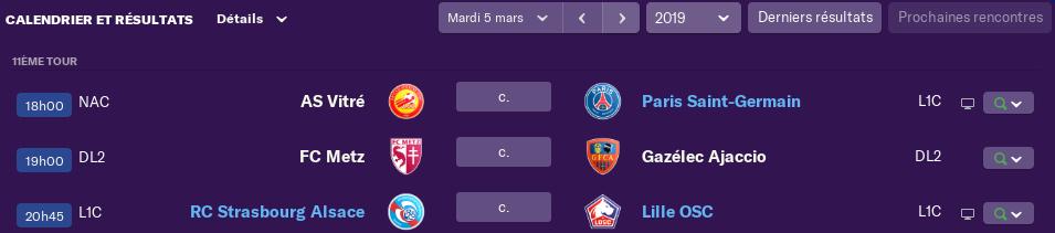 Compositions 1/8 ème tour de la Coupe de France avant Jeudi 12h 0417