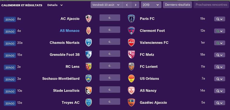 4ème journée de Ligue 1 Lundi 12 H 0562