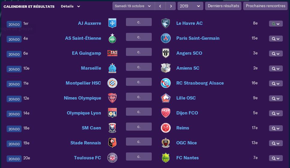 Calendrier Ligue 1 saison 02 1012