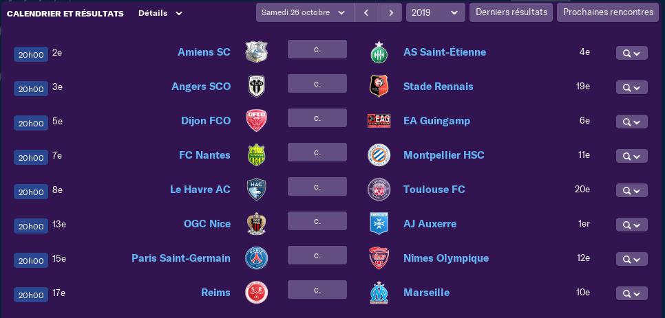 Calendrier Ligue 1 saison 02 11100