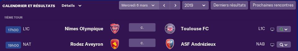 Compositions 1/8 ème tour de la Coupe de France avant Jeudi 12h 1244