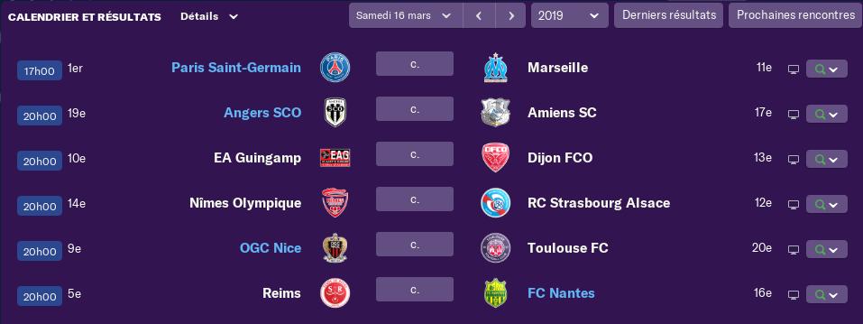 Compositions 29 Journée de Ligue 1 avant Jeudi 12H 1256