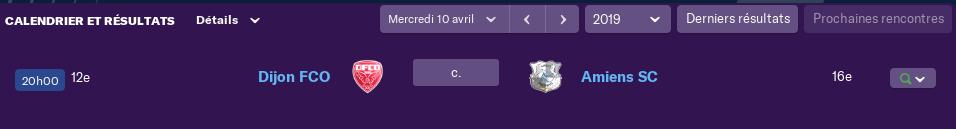 Compositions 32ème journée de Ligue match avancés Lundi 12 h 1288