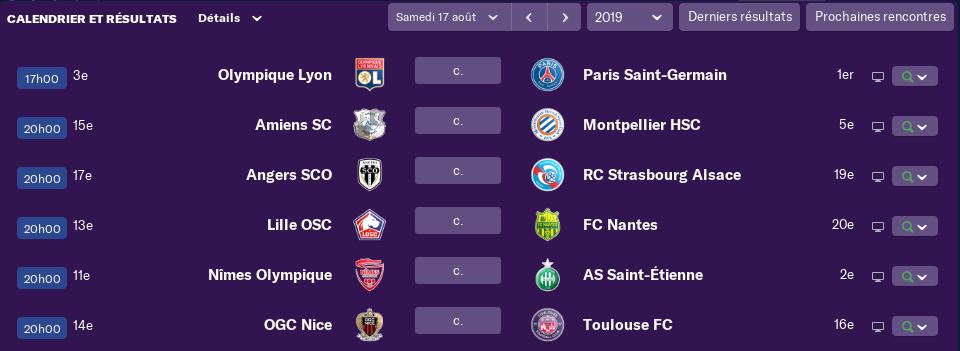 3ème journée de Ligue 1 avant Vendredi 12h 1408