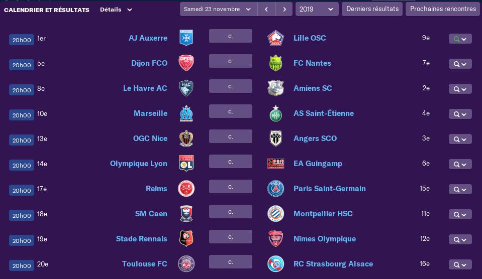 Calendrier Ligue 1 saison 02 1410