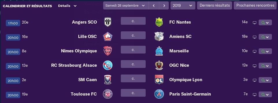 8ème journée de L1 avant Diamnche 12H sauf Rennes - AJA Samedi 12h 1446