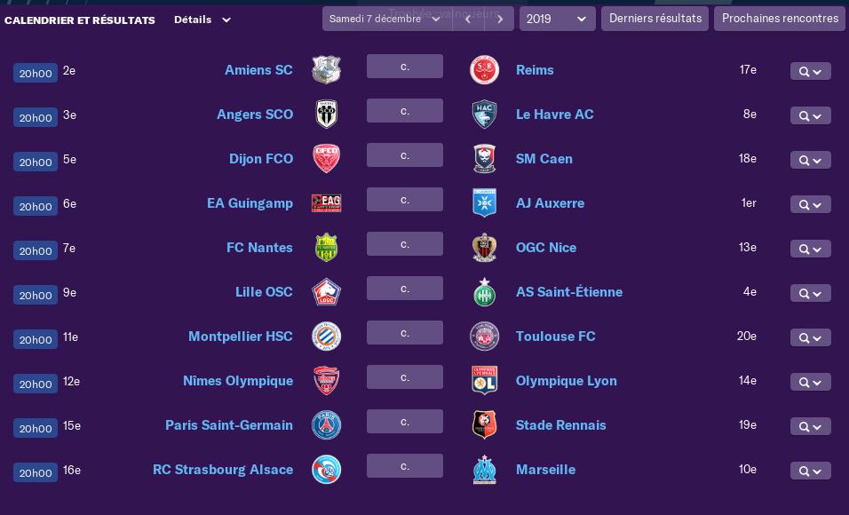 Calendrier Ligue 1 saison 02 1710