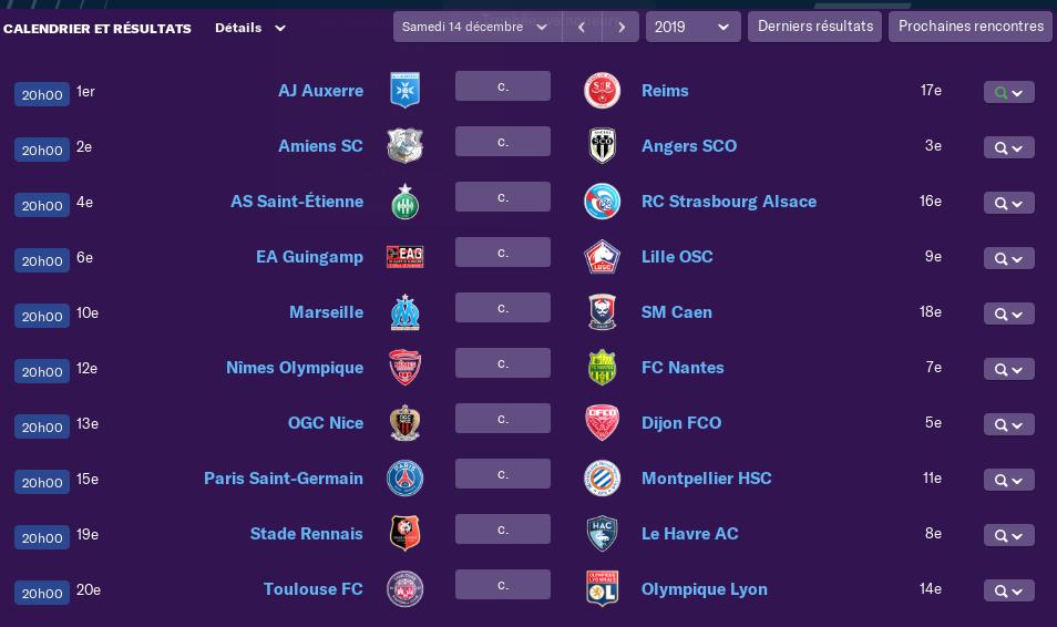 Calendrier Ligue 1 saison 02 1810