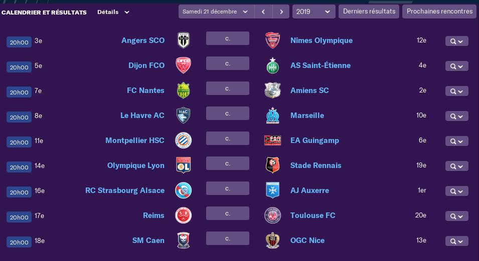 Calendrier Ligue 1 saison 02 1910